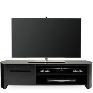 Alphason Finewoods FW1350CB-BLK Black Oak TV Stand