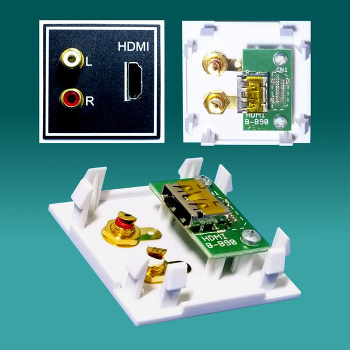 EP-HDMI50-90+AH  HDMI socket to 90deg internal HDMI socket + Audio