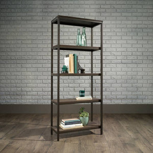 Teknik Industrial Style 4 Shelf Smoked Oak Bookcase (5423023)