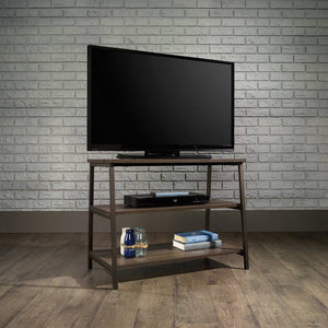 Teknik Industrial Style Trestle Table TV Stand in Smoked Oak (5423027)