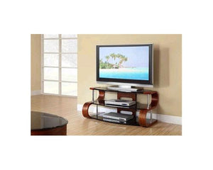 Jual Florence Curved Walnut TV Stand with Black Glass (JF203 WB 1100)