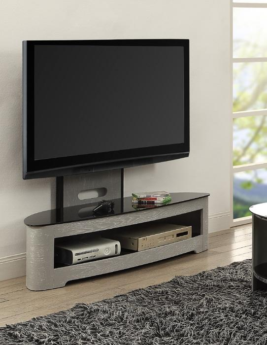 Jual Florence Curved Grey Ash Cantilever TV Stand (JF209GB)