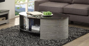 Jual San Marino Curved Curved Grey Ash Coffee Table (JF301 GB)