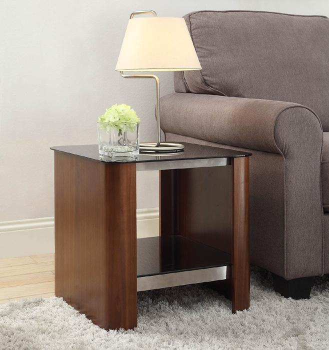 Jual Melbourne JF312 Curved Walnut Lamp Table