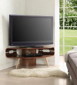 Jual Havana Curved Walnut Corner TV Stand (JF701)