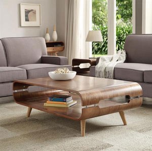 Jual Havana Curved Walnut Coffee Table (JF703)