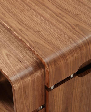 Jual Havana Curved Walnut Lamp Table (JF704)