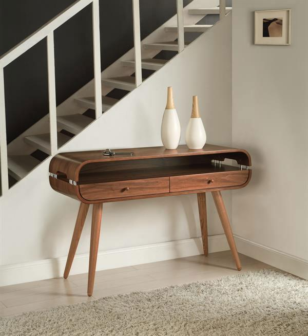 Jual Havana Curved Walnut Console Table (JF705)