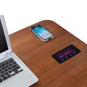 Jual San Francisco Smart Desk With Speakers And Wireless Charging in Walnut (PC711WAL)