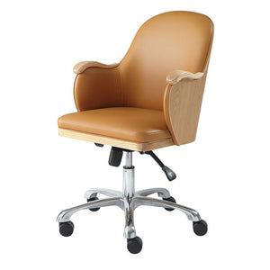 Jual San Francisco PC712 Executive Office Chair in Oak and Tan Leather