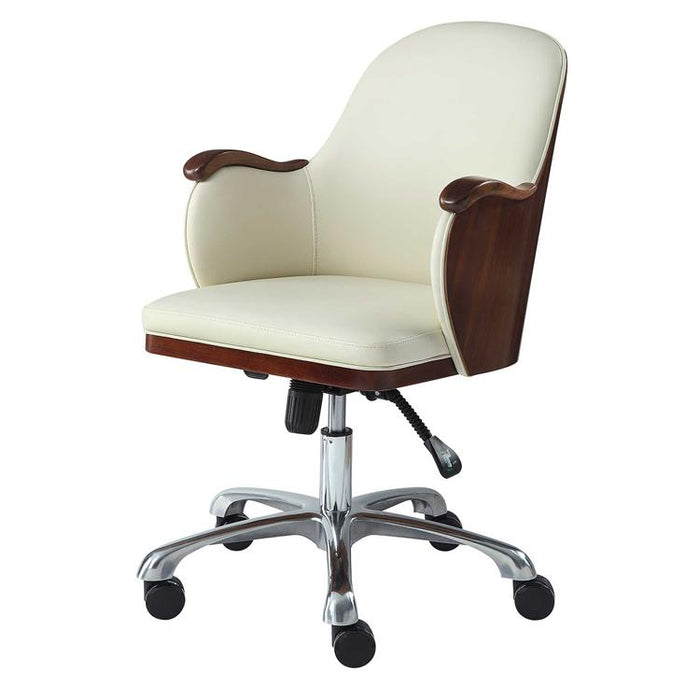 Jual San Francisco PC712 Executive Office Chair in Walnut and Cream Leather
