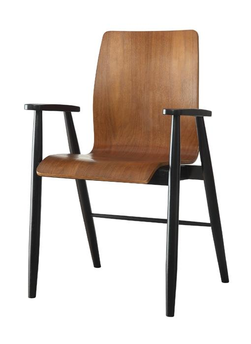 Jual Curve PC612 Executive Chair in Walnut