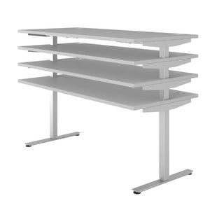 Maja eDJUST 155cm Wide Motorised Height Adjustable Desk (5543)