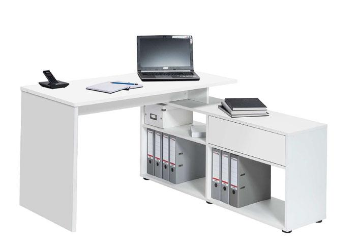Maja Clifton Corner Office Desk in Icy White (4019 5539)