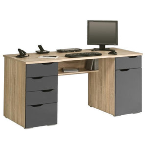 Maja Marlborough Office Desk in Sonoma Oak and High Gloss Grey (9539 2574)