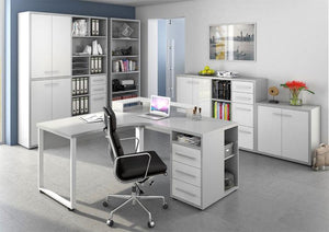 Maja Set+ Tall 6-Shelf Bookcase in Platinum Grey (1697-5563)