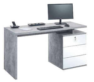 Maja Victoria Office Desk in Concrete and White (4056 9156)