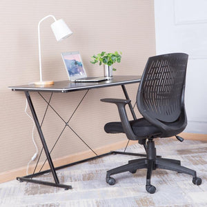 Alphason Malibu Black Task Operator Chair With Arms (AOC5460BLK)