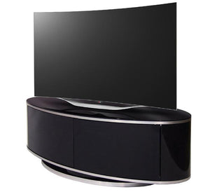MDA Designs Luna High Gloss Black Oval TV Cabinet