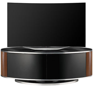 MDA Designs Luna Walnut Oval TV Cabinet