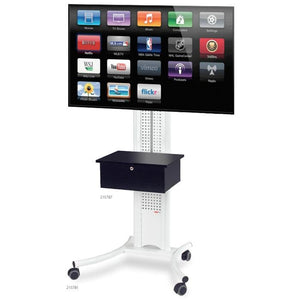 Metroplan Mobile LCD Plasma Trolley in White (215781)