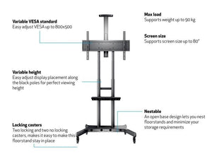 Multibrackets M Public Floorstand Basic 180 For Up To 80 Inch