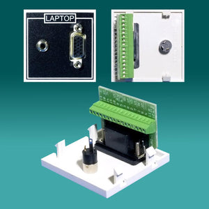 EP-PC50J-ST Euro module VGA to Screw terminal Plate with 3.5mm Jack
