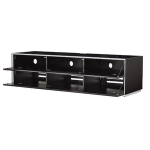 Optimum Project Ortho Series 1600GG Gloss Black Enclosed TV Cabinet