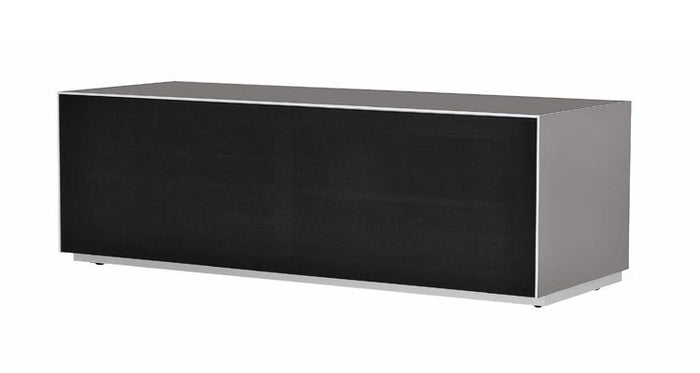 Optimum Project 1300F Enclosed Graphite Grey TV Cabinet with Fabric Front