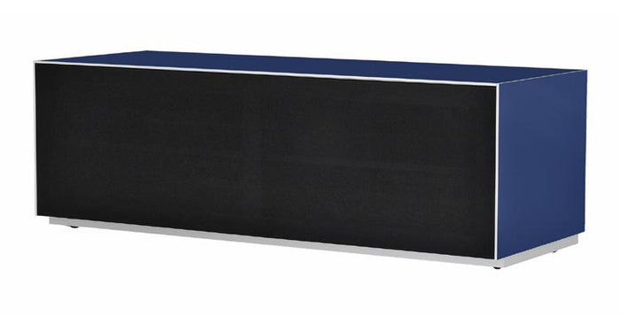 Optimum Project 1300F Enclosed Midnight Blue TV Cabinet with Fabric Front