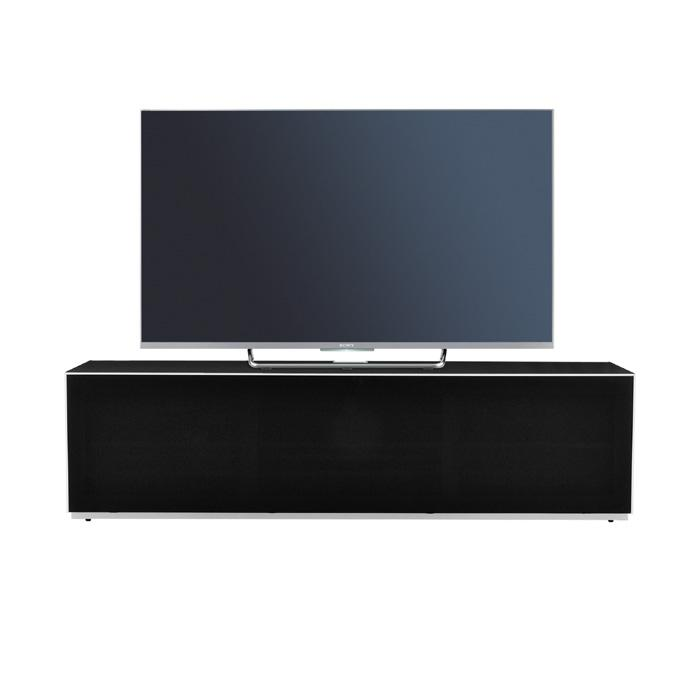 Optimum Project 1600F Gloss Black Enclosed TV Cabinet with Fabric Front