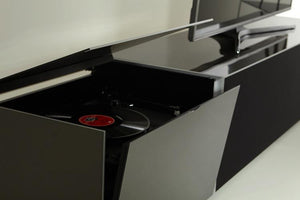 Showroom Sale - Optimum Project 650TT Grey Enclosed Turntable Cabinet