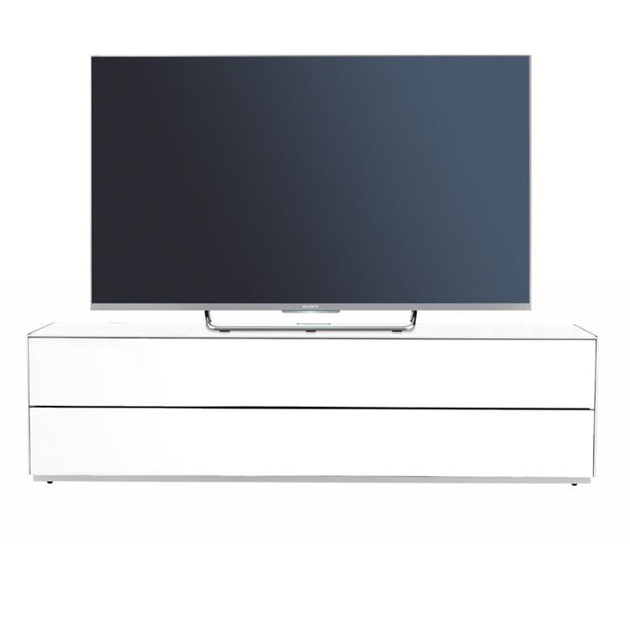 Optimum Project PRO1600GG Gloss White Enclosed TV Cabinet