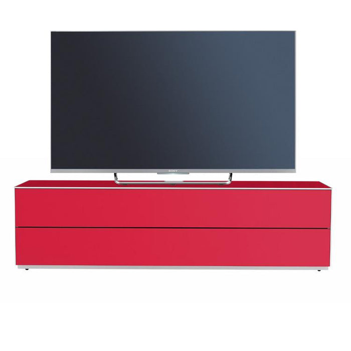 Optimum Project 1600GG Gloss Cardinal Red Enclosed TV Cabinet