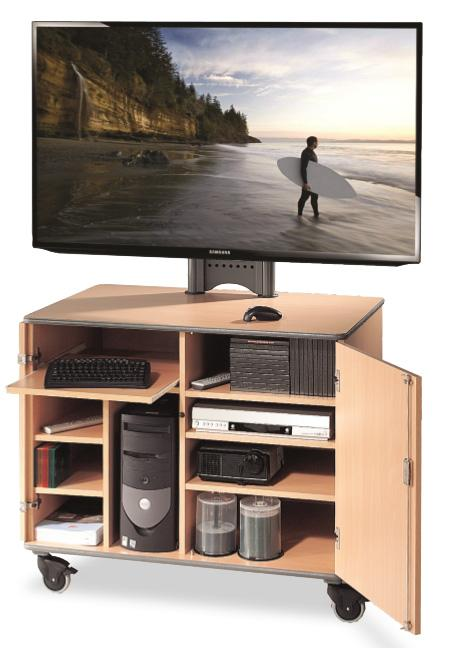 Metroplan Secure 110 TV Mobile Cabinet with Mount in Beech (215668)