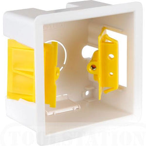 AV4-CP-PL410204 - Flush Mounted Single Gang back box for AV wallplate installations