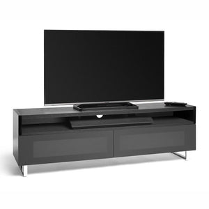 Techlink Panorama PM160+ Black Oak and Piano Gloss Black TV Cabinet (406434)