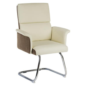 Teknik Elegance Medium Back Cream Leather Visitor Chair