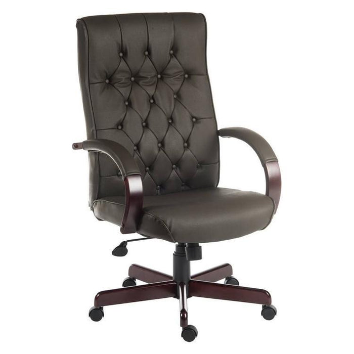 Teknik Warwick Brown Leather Executive Office Chair (B8501-BR)