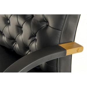 Teknik Warwick Black Leather Executive Office Chair (6928)