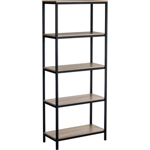 Teknik Industrial Style 4 Shelf Charter Oak Bookcase (5420277)