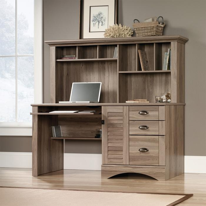 Teknik Louvre Hutch Office Desk (5415109)