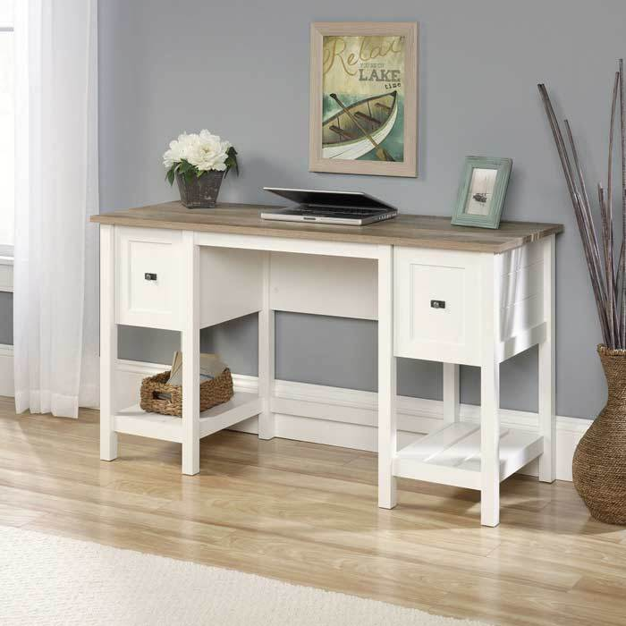 Teknik Shaker Style Soft White Office Desk (5418072)