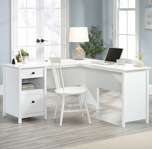 Teknik White Corner Office Desk (5427718)