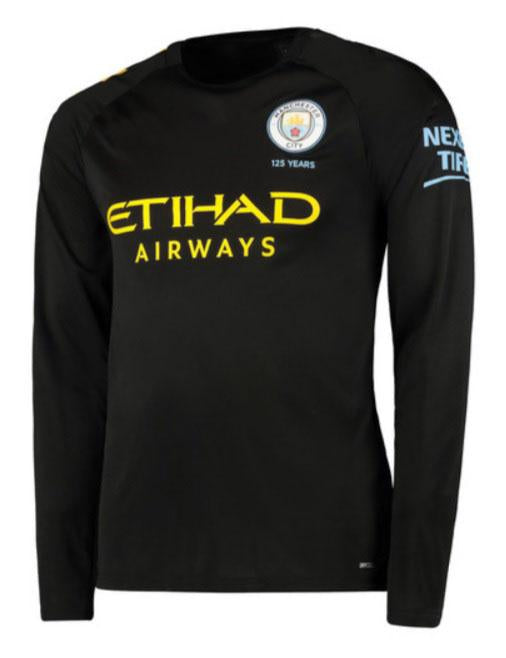 save off 910a8 4e02d Kevin De Bruyne Manchester City Long Sleeve 19/20 Away Jersey