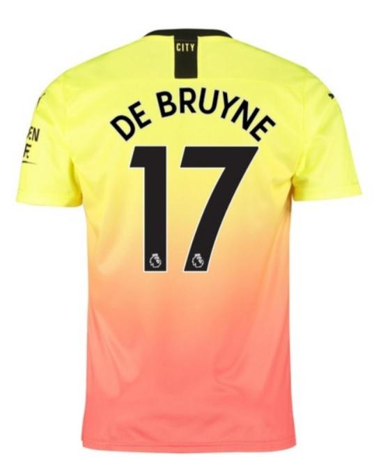 cheap for discount 92499 a0c7f Kevin De Bruyne Manchester City 19/20 Third Jersey