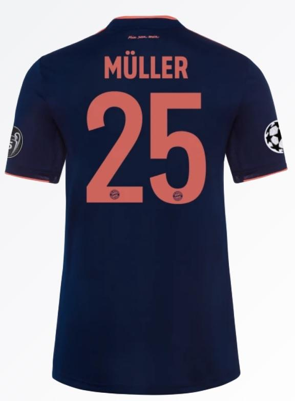 timeless design 1ed9b 17e30 Thomas Müller Bayern Munich 19/20 Third Jersey