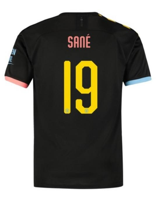 buy popular 7230c fe9a4 Leroy Sane Manchester City 19/20 Away Jersey Cup Print