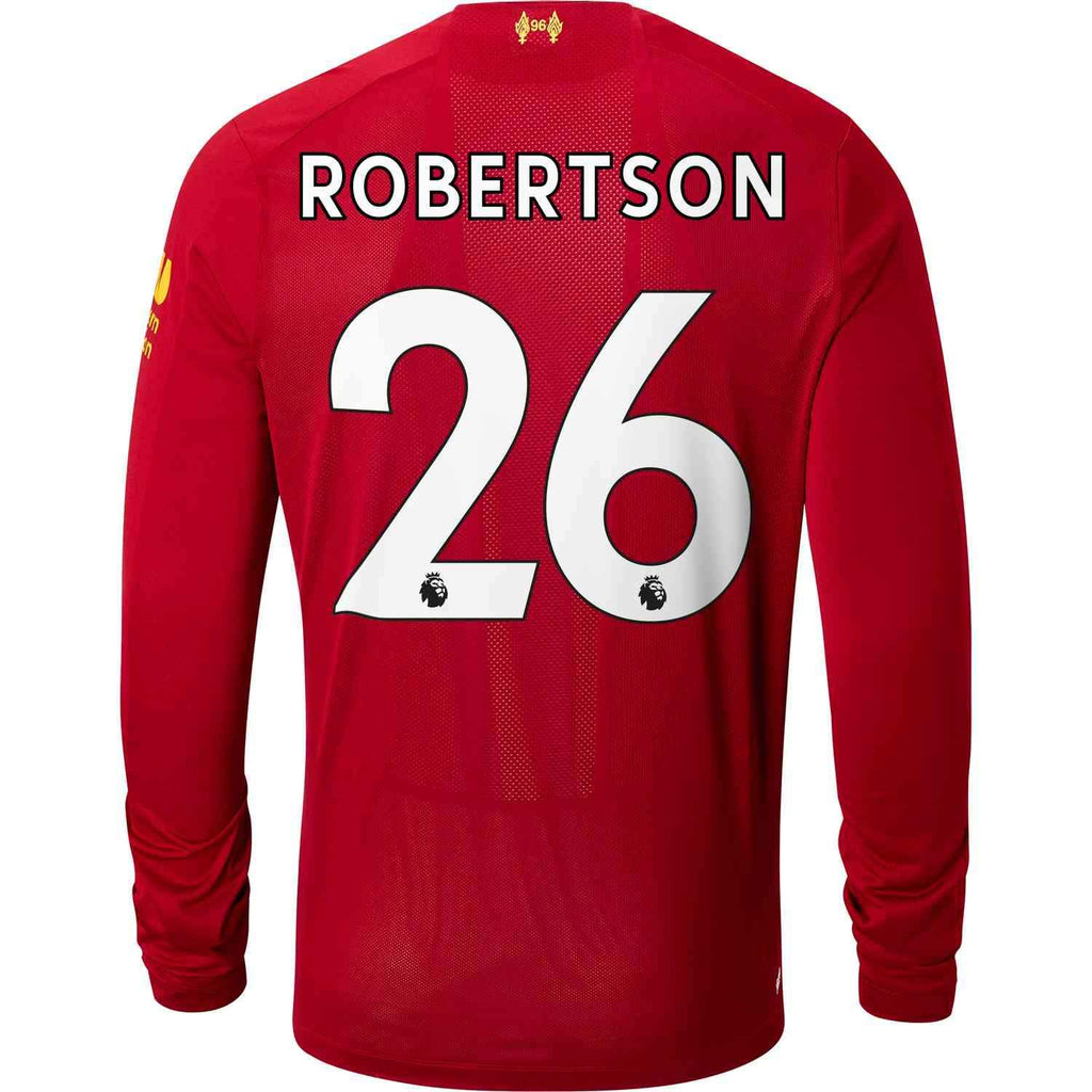 size 40 aa355 d343e Andrew Robertson Liverpool 19/20 Long Sleeve Home Jersey