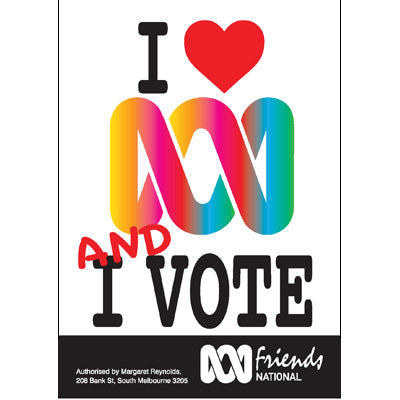 Poster : I love the ABC and I vote